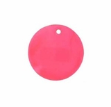 Light Red Round Hammershell Bead 25mm