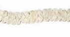 Coco Flower Beads 10mm - Bleached White