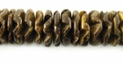 Natural Brown Coco Flower Beads 15mm