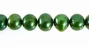 Forest Green Potato Pearls  6-7mm