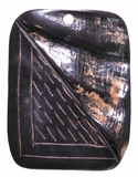 Black Horn Rectangular Pendants