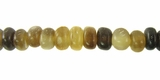 Grey Nugget Horn Beads 5mm