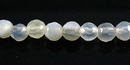 Faceted Round Natural Gray Agate Beads 4-4.5mm