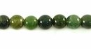 Smooth Round Green Moss Agate Beads 6mm