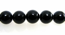 Smooth Round Black Agate Beads 10mm