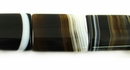 Flat Rectangle Blackline Agate Beads 15x20x5mm