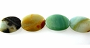 Smooth Flat Oval Amazonite Beads 18x25x7mm