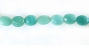 Faceted Flat Oval Amazonite Beads 8x10mm