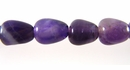 Smooth Teardrop  Amethyst Beads 6x8mm