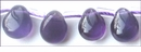 Amethyst Briolette Pear Shape Beads