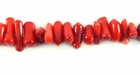 Dyed Red Bamboo Coral Chips / Sticks