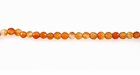 Round Carnelian Faceted Beads