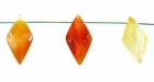Carnelian Rhombus Faceted 10x20x5mm