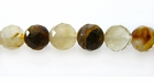Tiger Glass Round Beads Faceted 8-8.5mm