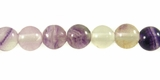 Purple Flourite Round Beads 6mm