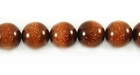 Red Round Goldstone Beads 10mm