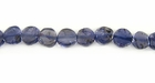 Iolite Coin Beads 5-6mm