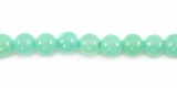 Green Hemimorphite Round Beads 4mm
