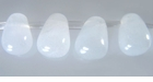 White Jade Briolette Beads 6x8mm
