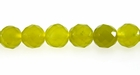 Olive Jade Round Beads Faceted 8mm