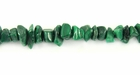 Malachite Chip Beads 4-7mm