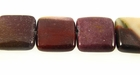 Mookaite Jasper Puffy Square Beads 13x13x5mm