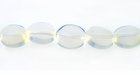 Opal Quartz, Flat Oval Beads 8x10mm