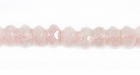 Rose Quartz Rondelle Faceted Beads 6mm