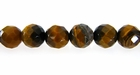 Yellow Tiger Eye Round Beads Faceted 8mm