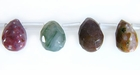 Ocean Jasper Faceted Briolette Beads 7x15mm