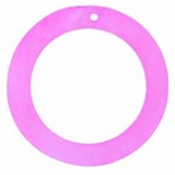 "Hammershell ""O"" Ring 45mm Pink Shell Beads"