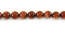 Red Round Goldstone Beads 6mm
