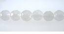 White Jade Round Beads Faceted 8-8.5mm