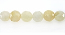 Yellow Jade Round Beads Faceted 8mm