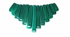Malachite Tapered Beads