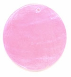 Light Pink Capiz Shell Pendant 25mm