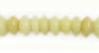Polished White Saucer Buri Beads 8mm