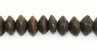 Brown Salwag Saucer Beads 8x6mm