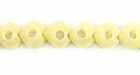 White Heart Buri Beads With Center Hole 10mm