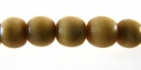 Tea Dyed Bone Round Beads 10mm