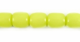 Lime Green Buri Oval Beads 10x8mm