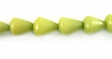 Lime Green Cone Buri Beads 10x8mm