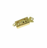 Gold Plated Snap Clasps 5.5x14mm