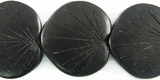 Double-Sided Black Coco  Leaf Beads