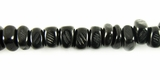 Black Nugget Horn Beads 6mm