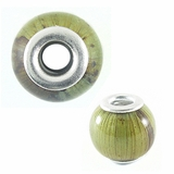 Green Banana Bark Round 15x12mm