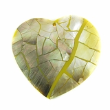 Blacklip Broken Heart Cracking Shell Pendants 60x50mm