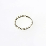 Sterling Silver Twisted Round Jump Rings (Closed) 7mm