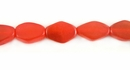 Orange Greyhorn Flat Bicone Beads 7x11mm