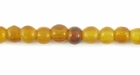 Golden Horn Round Beads 4mm